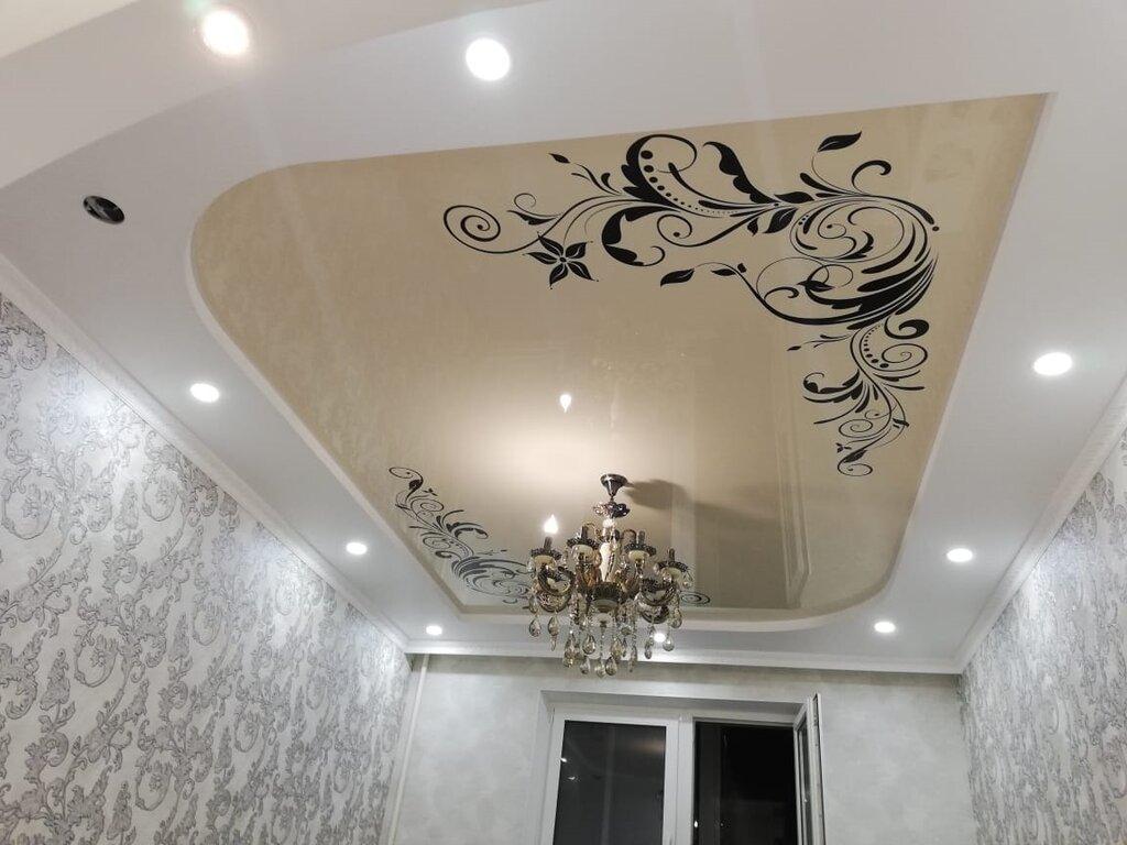 натяжные потолки с рисунком фото эскиз