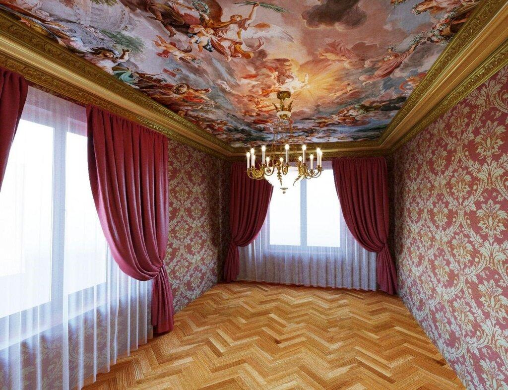 классический натяжной потолок картинки фото может