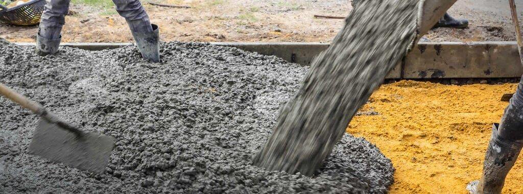 заливка бетона на щебень