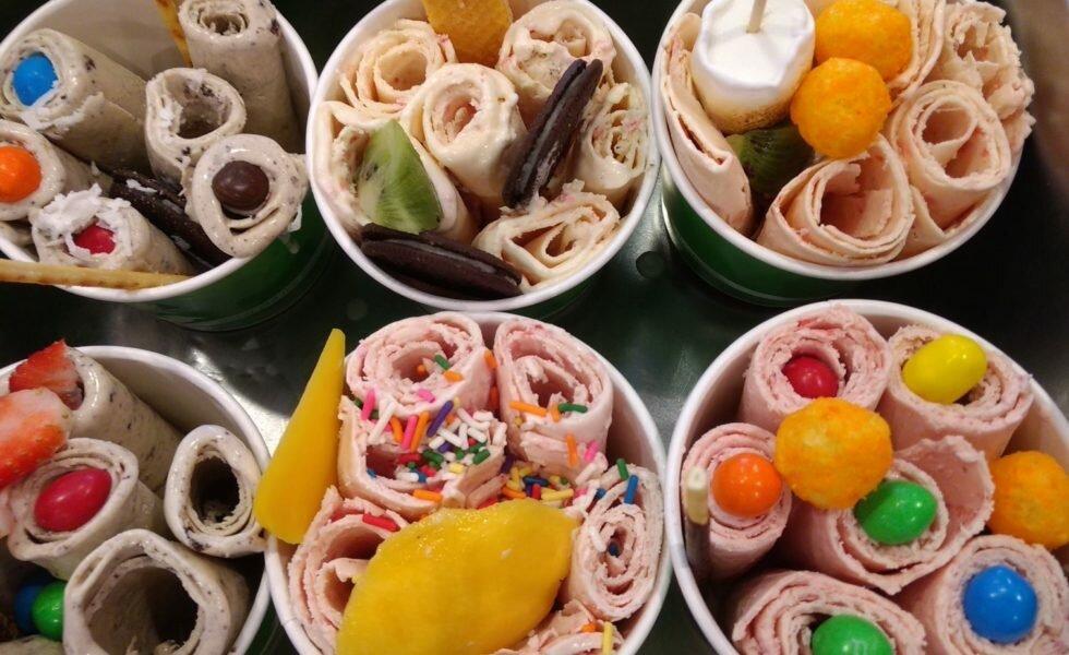 Жареное мороженое ролл картинки