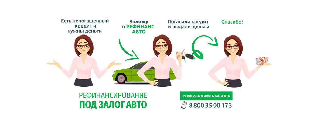 Рефинансирование под залог авто автосалон тойота измайлово в москве
