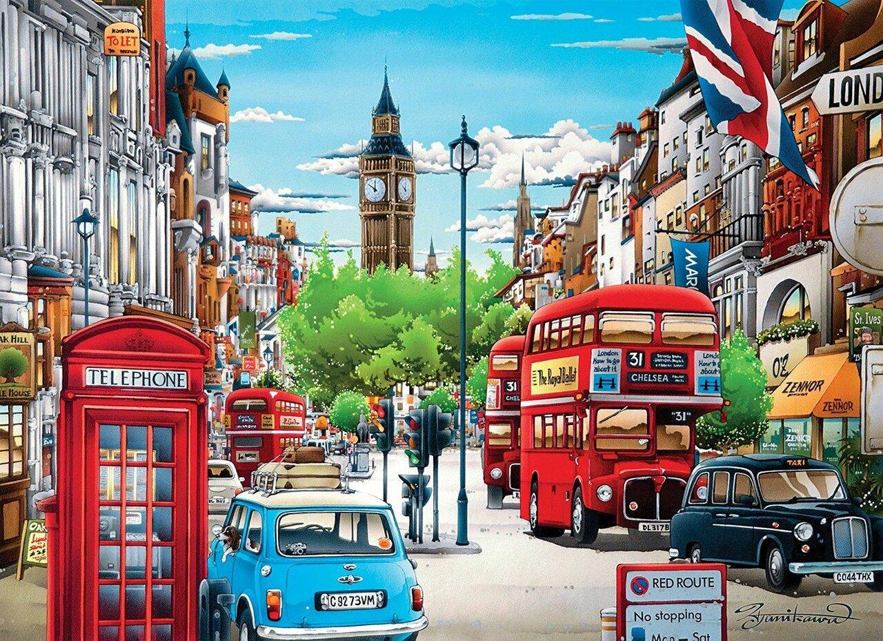 Картинки английских улиц рисованные
