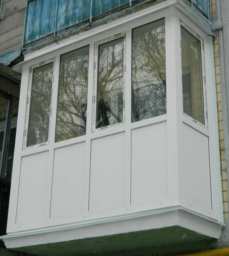 Фото пластиковых балконов с улицы