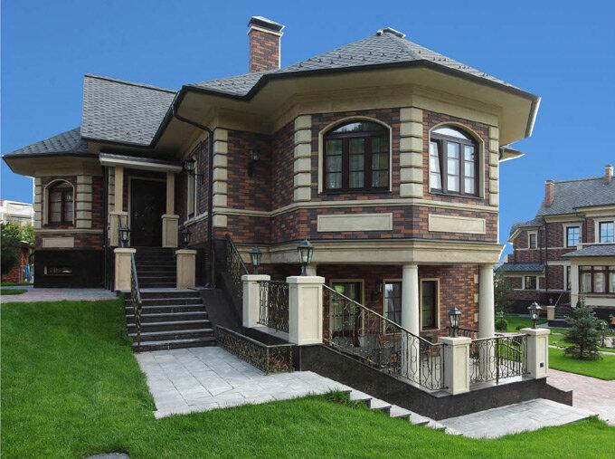 такая фасады домов фото с балконом и эркером хна просто становится