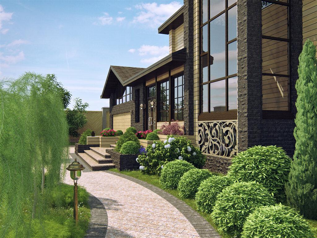 Фото территории загородного дома