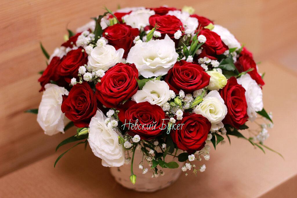 Цветы и букеты невский, белых