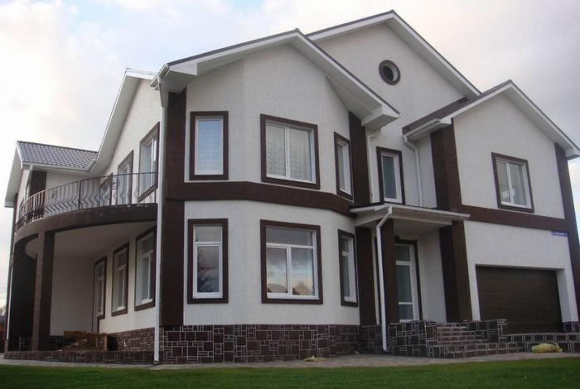 дизайн покраски дома снаружи по штукатурке