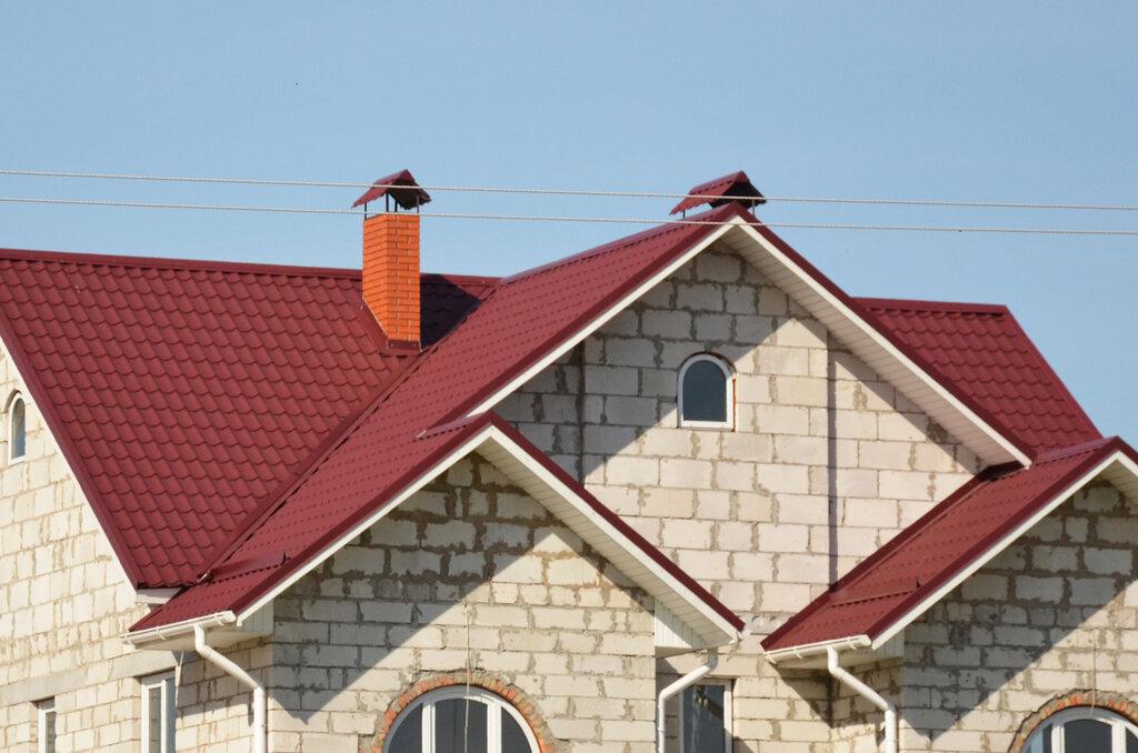Крыша цвет красное вино фото