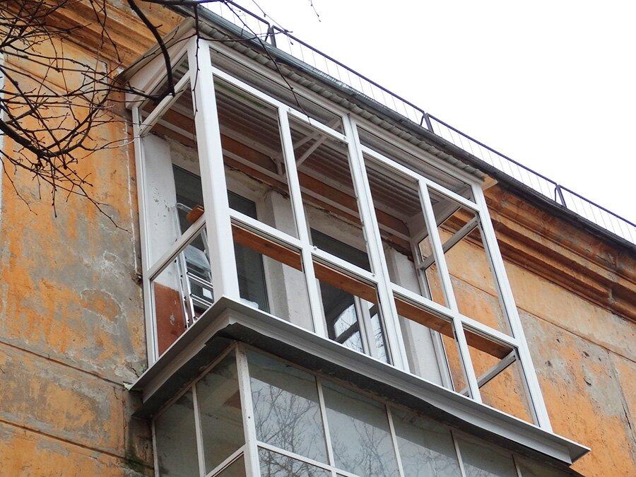 Фото балконов на последнем этаже