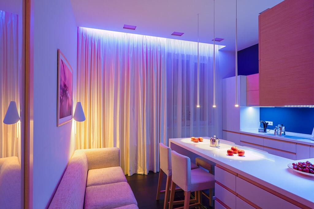 Подсветка по периметру комнаты фото идеале