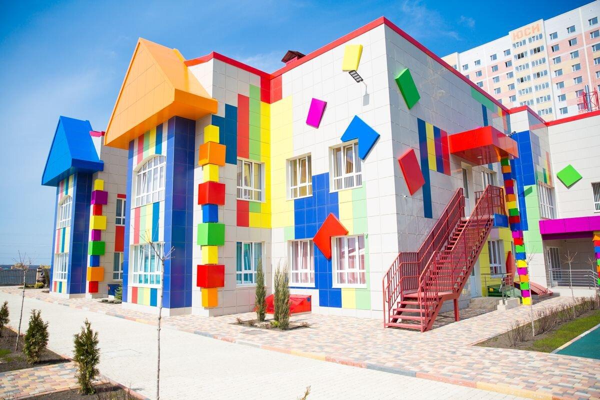 Фасады детского сада в картинках