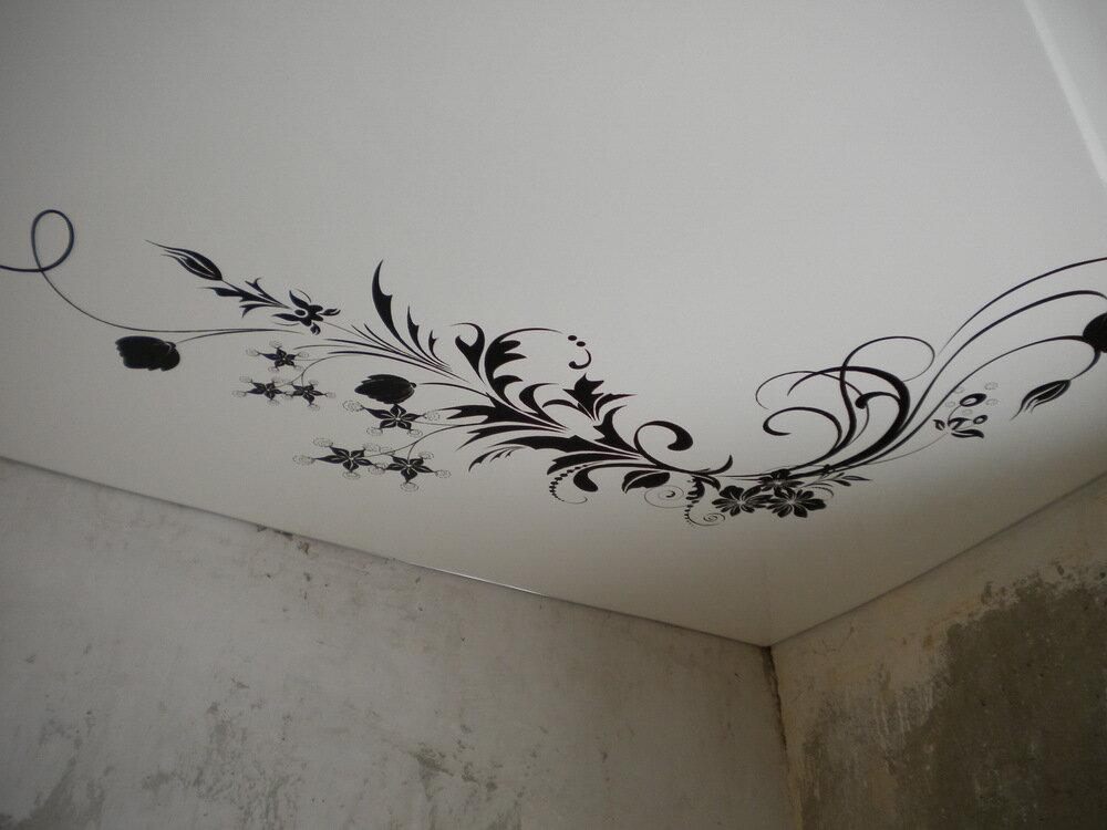 рисунок на потолок технологические параметры начале