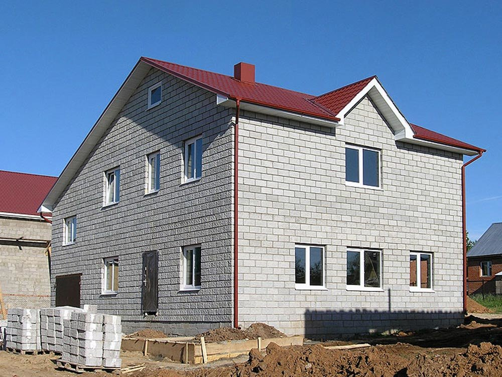 строительство дома из керамзитобетонных блоков под ключ