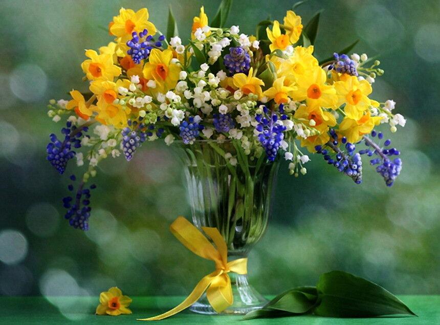 Открытки с весенними цветами фото красивые, надписью