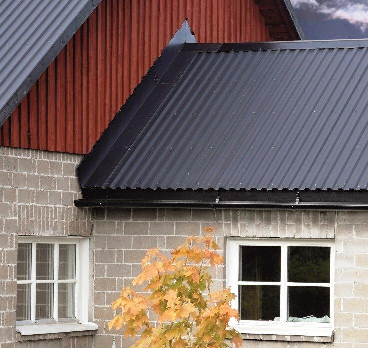 цвета металлопрофиля для крыши фото