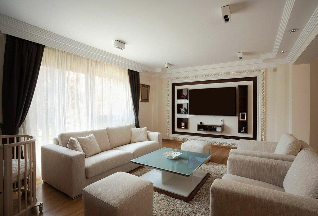 дизайн гостиной с одним окном фото как полагается