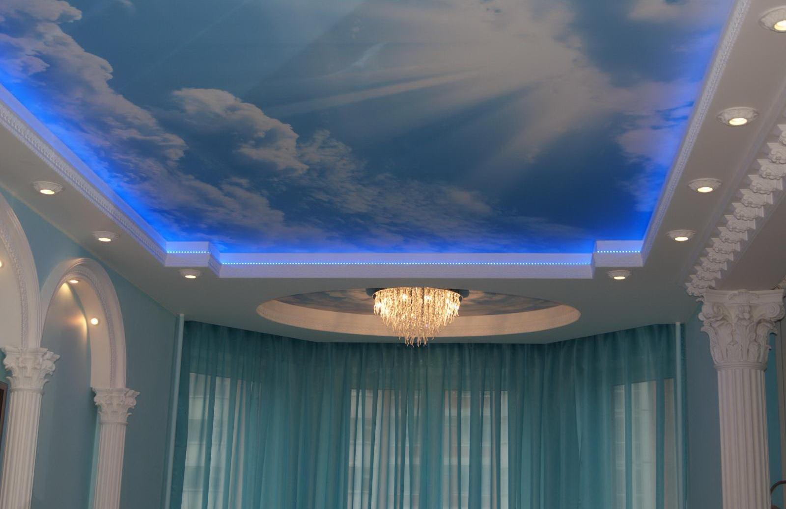 гипсокартонные потолки цена за 1м2