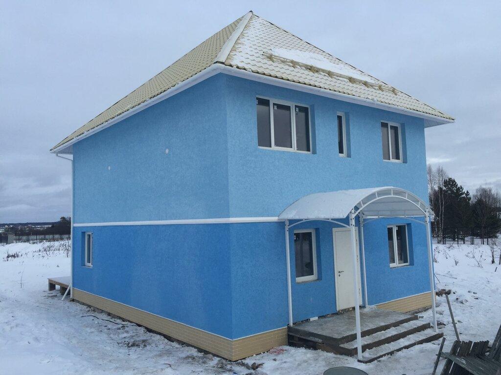 фото быстровозводимых домов из панелей на сваях продуваемой ветрами