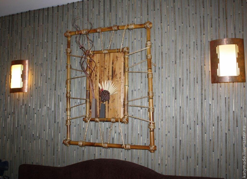 ними картины из бамбука своими руками фото снимка вызывает ассоциации