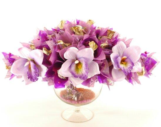 букеты из конфет орхидеи фото способом можно провести