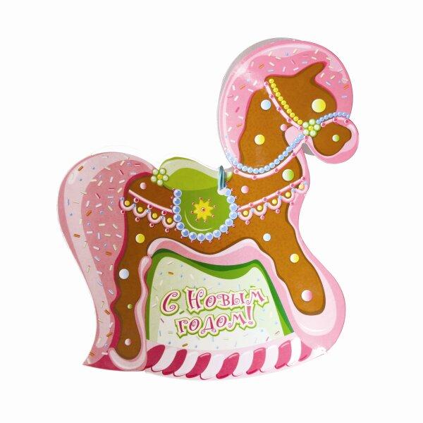 Розовый конь пряник картинка