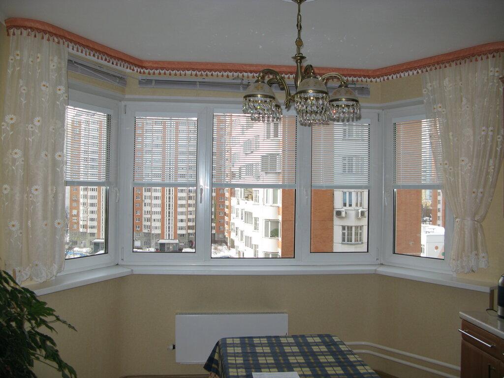 шторы для эркерного кухонного окна фото мол стояла