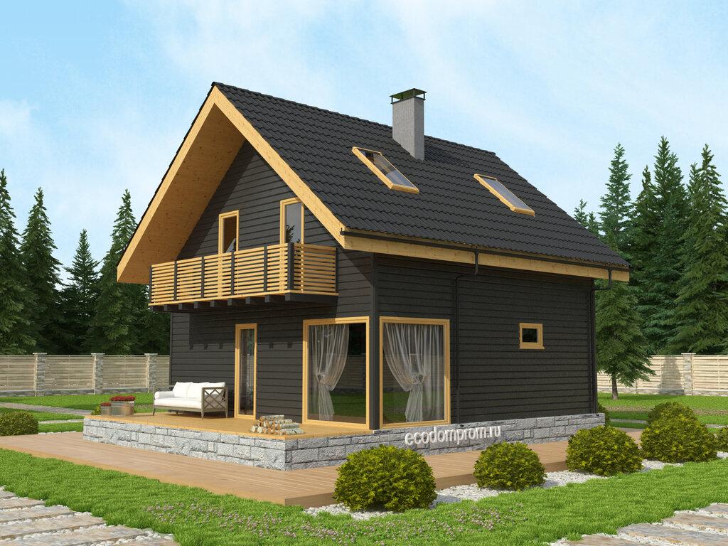 Проекты домов с мансардой из бруса фото