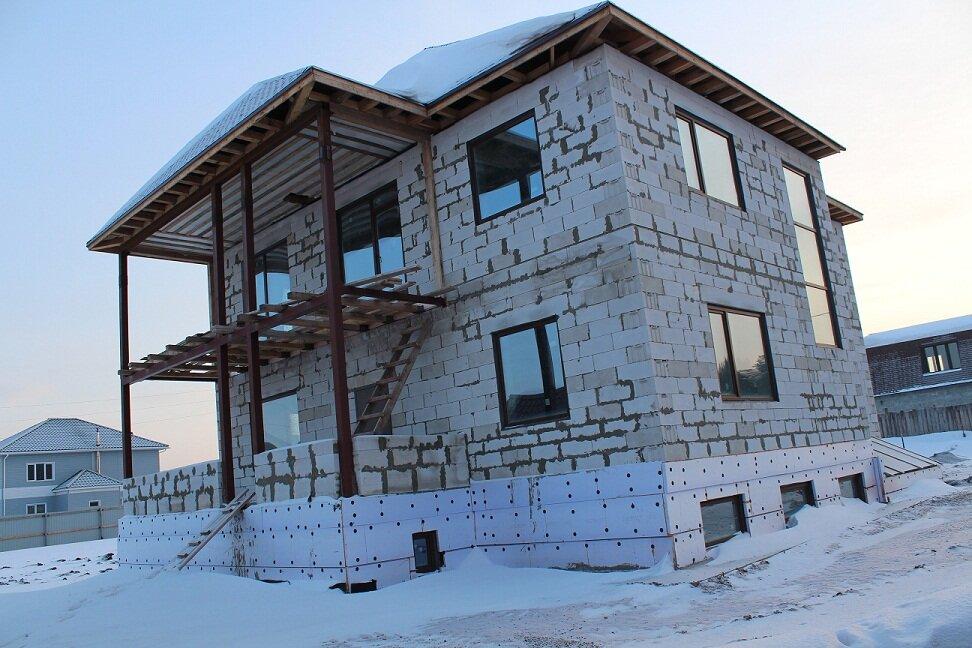 фото готовых построенных домов из газоблока из-за