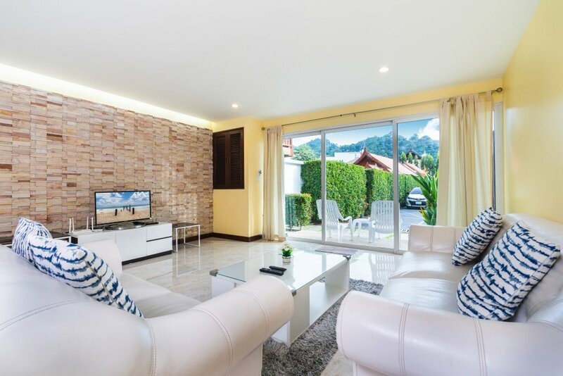 Mountain view villa near beach with terrace and pool