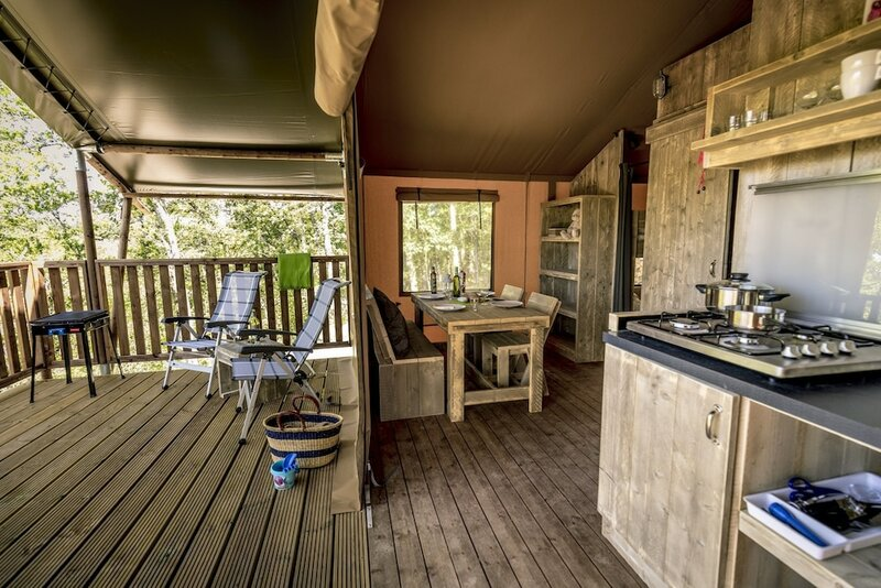 Safaritent Glamping op Camping Orlando in Chianti