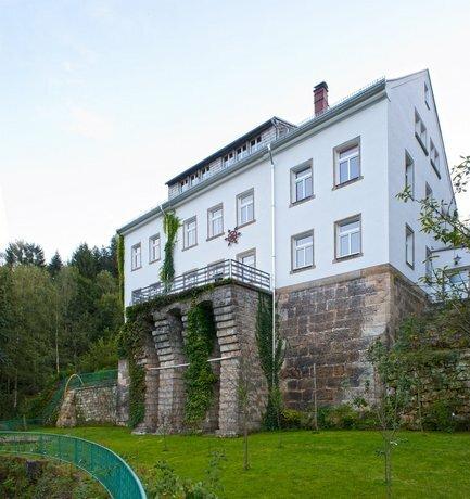 Die Burg Schöna - In a national park