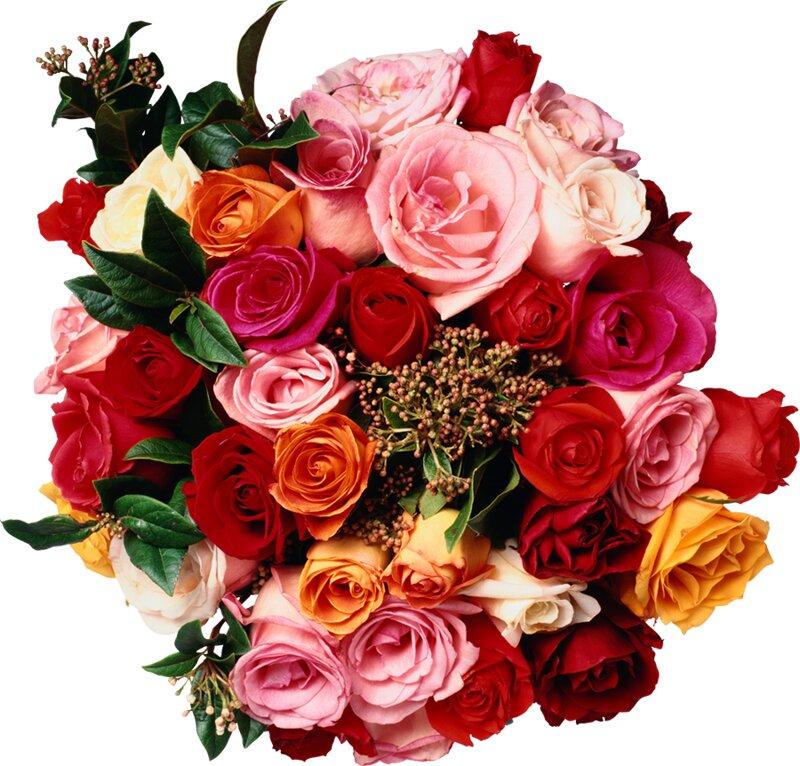 Открытка букет цветов гиф