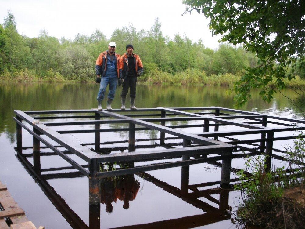 строительство на воде сваи
