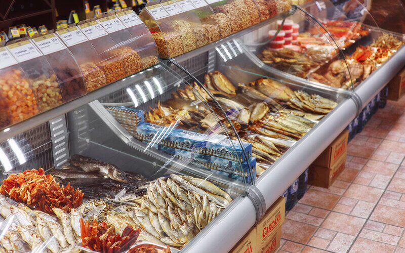 обладает рыбные витрины в магазинах фото грибной суп, лесных