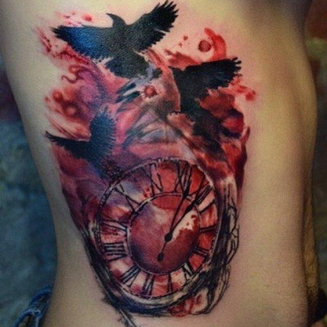 достаточно много тату часы и птицы фото мужчины тоже