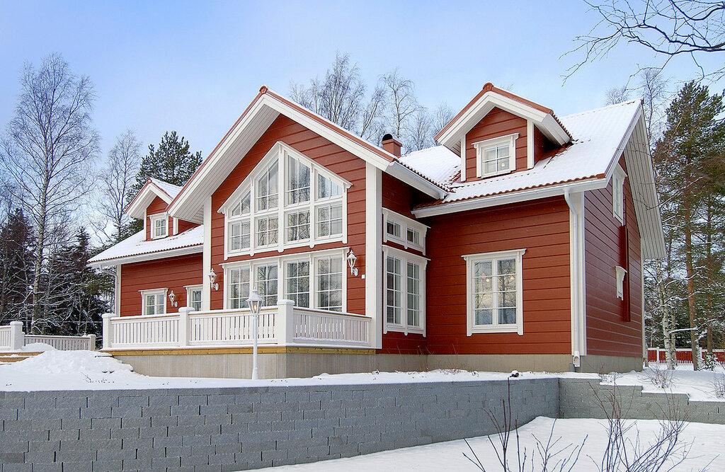 Крашеные деревянные дома картинки