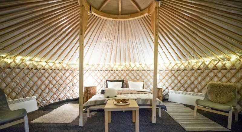 Yurt with a river view