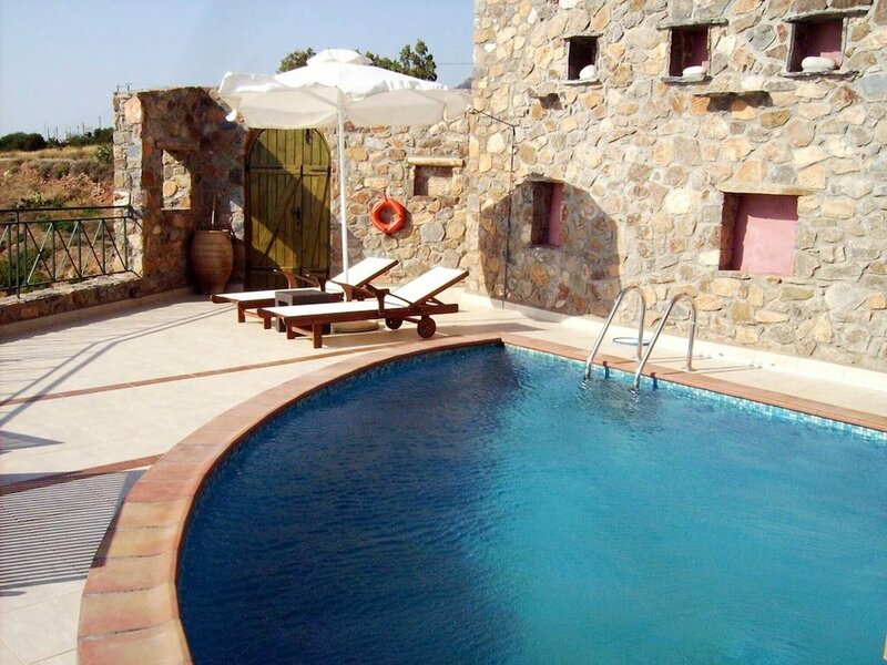 Villa Artemis is on the Peak of a Hillside Overlooking the Mediterranean sea