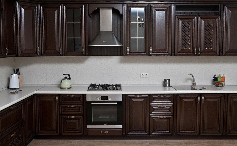Кухня массив дуба венге фото