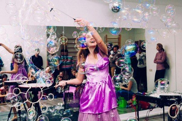 организация и проведение детских праздников — Шоу мыльных пузырей — Новосибирск, фото №1