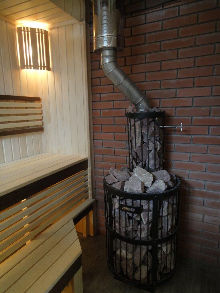 Фото отделки стены дымохода