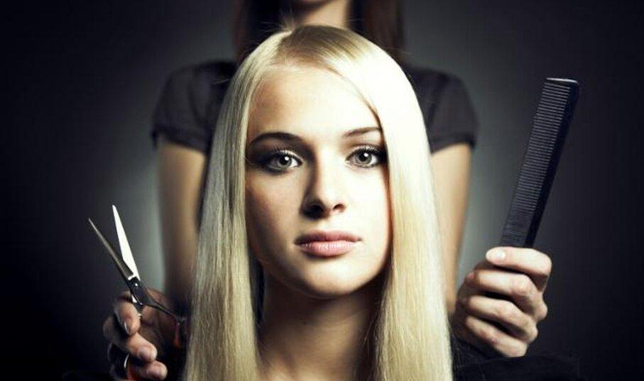 несколько красивая картинка волос и ножниц онлайн-сервис понятен прост