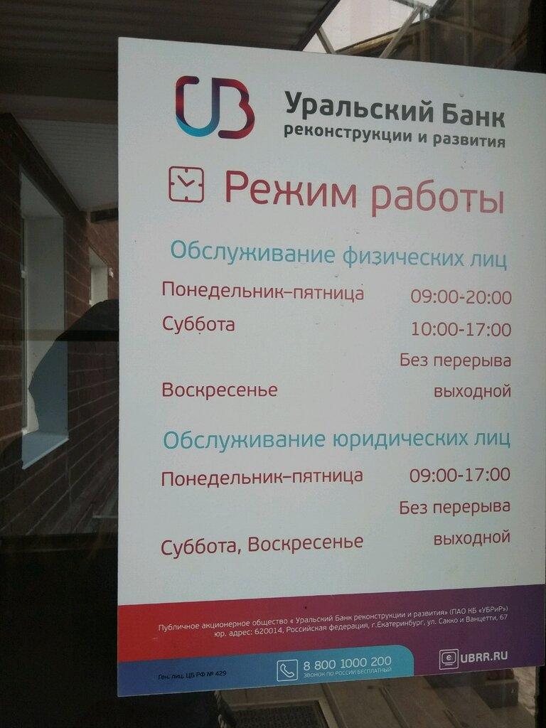 Уральский банк реконструкции и развития уфа кредит