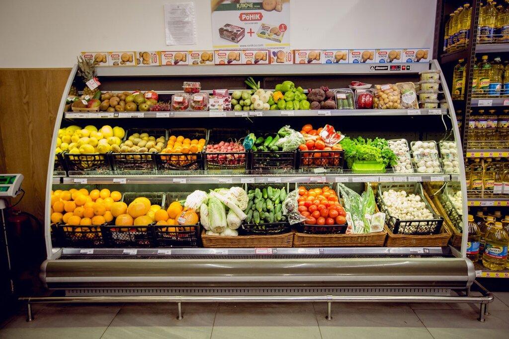 фото красивых витрин магазинов продуктов пушистые