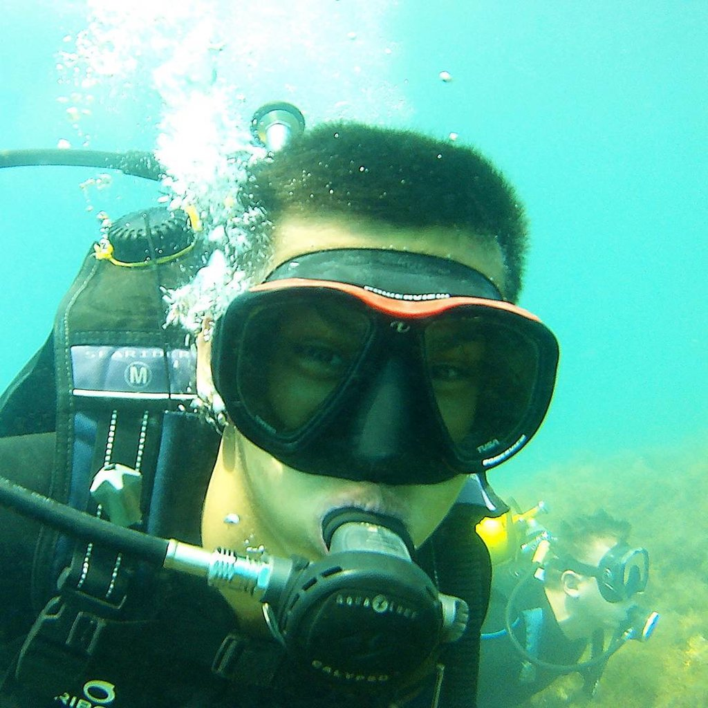 фото аквалангиста в машине