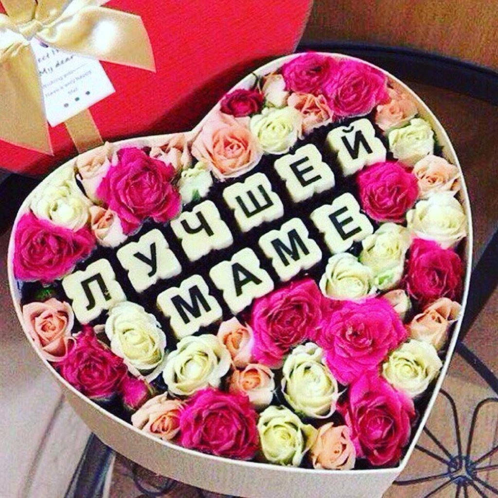 Букет цветов в подарок на день рождения маме, анемоны тюльпаны