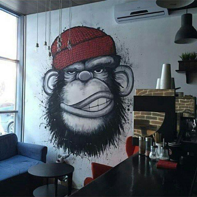 Coffee shop Monkey Grinder, Russia, Perm, Kuybysheva Street