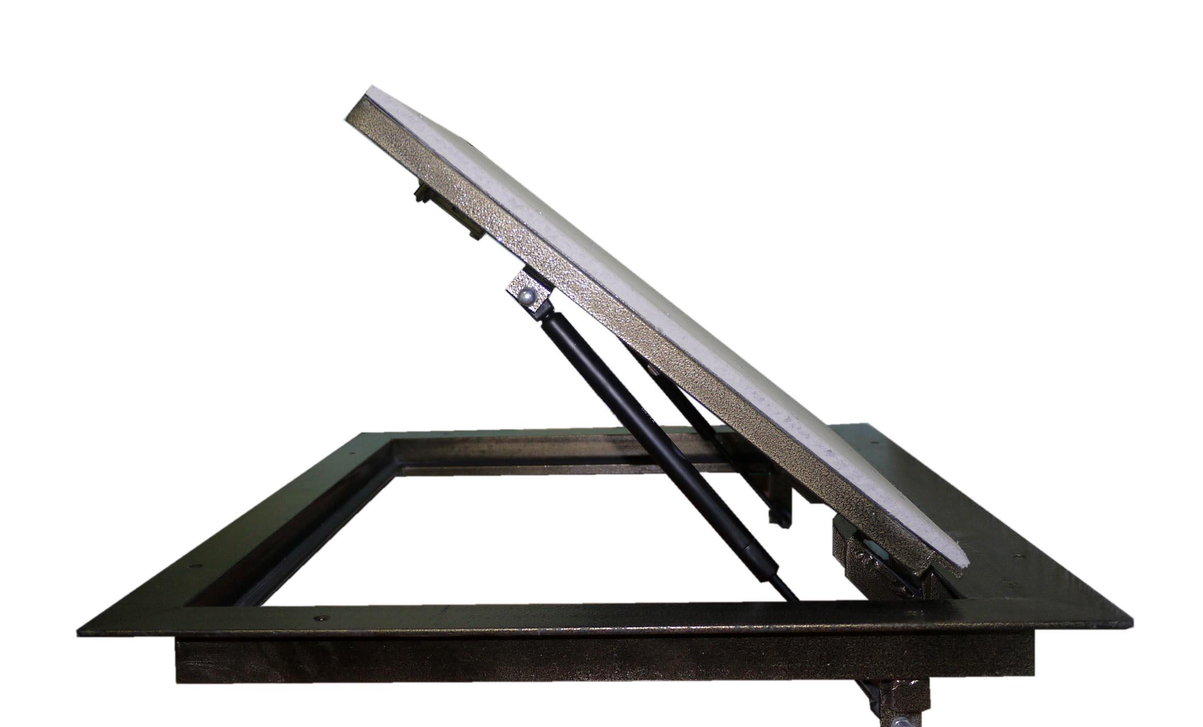 люк для погреба с газовыми амортизаторами