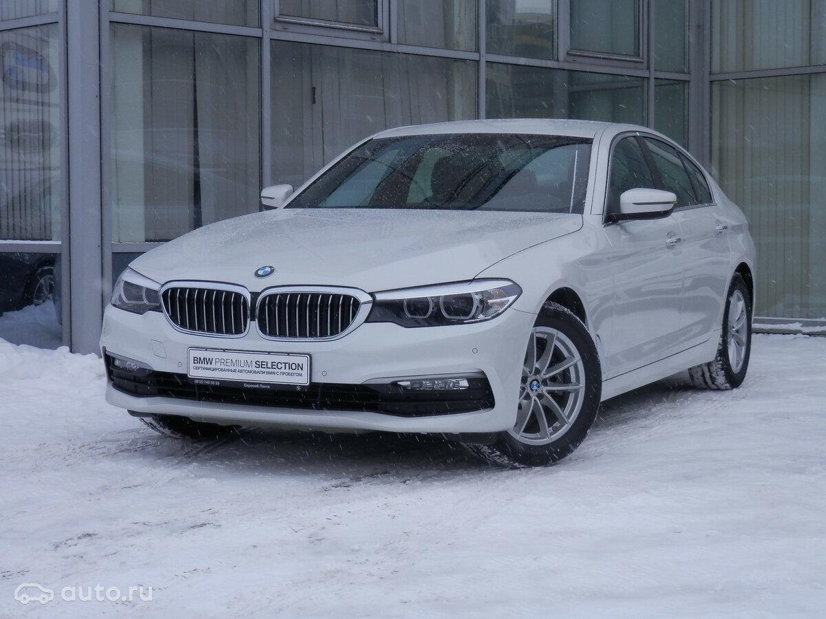 2018 BMW 5 ÑеÑÐ¸Ñ  VII (G30/G31) 520d xDrive, белÑй, [object Object] ÑÑблей