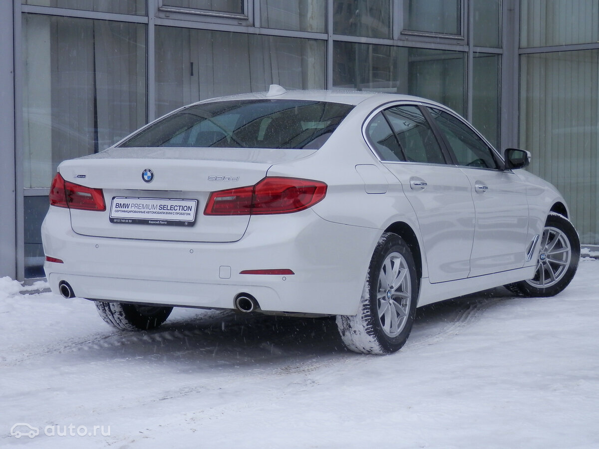 2018 BMW 5 ÑеÑÐ¸Ñ  VII (G30/G31) 520d xDrive, белÑй, [object Object] ÑÑблей - вид 2